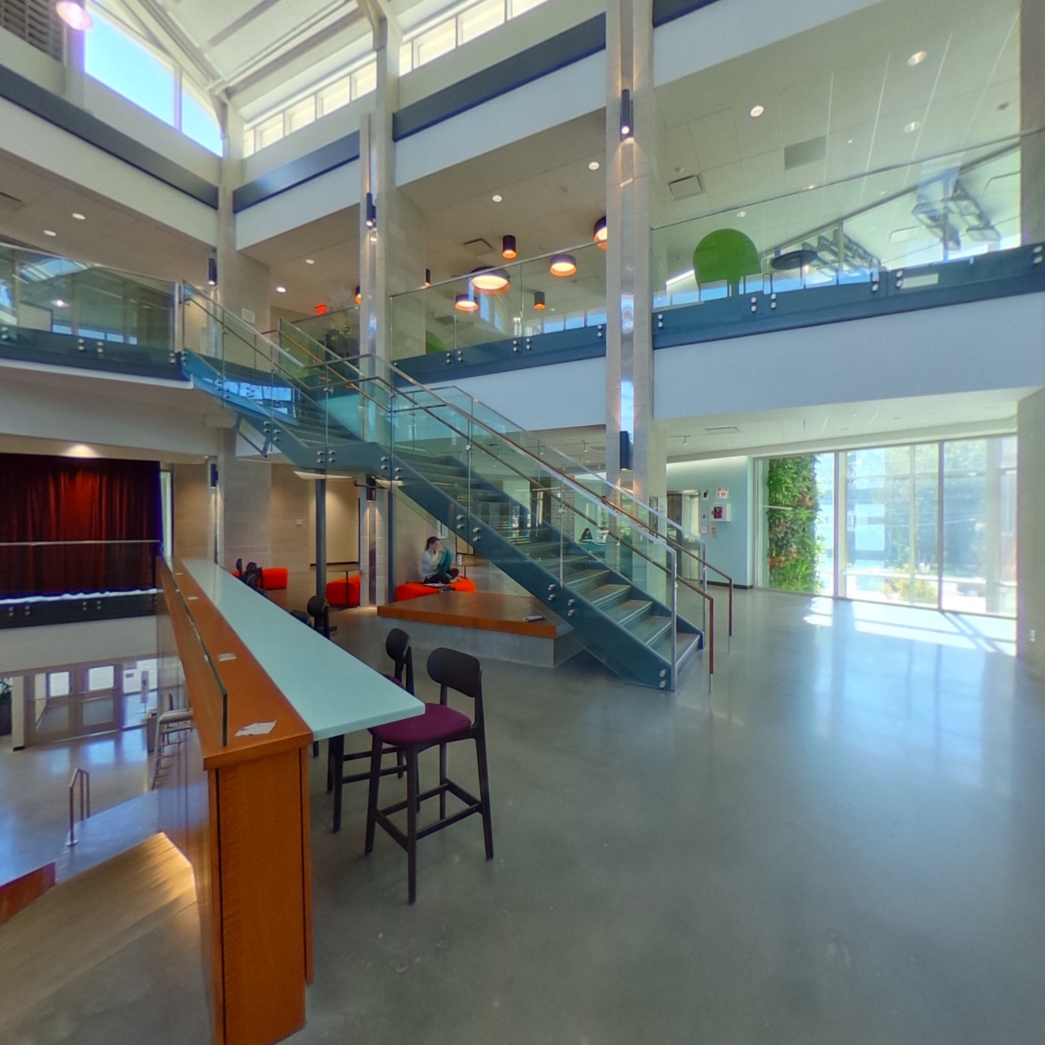E. Craig Wall Academic Building Atrium